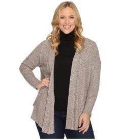 B Collection by Bobeau Curvy Plus Size Syden Relaxed Cardigan (Dusty Rose) Women's Sweater
