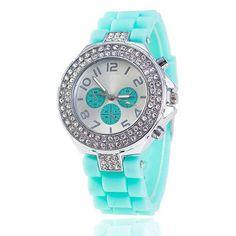 Vansvar Brand Fashion Jelly Silicone Watch Women Rhinestone Watches Casual Women Wristwatch Quartz Watch Relogio Feminino 1000