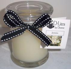 Jasmine12 oz candle by DLitesbyDorene on Etsy, $16.50