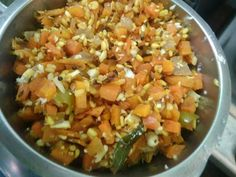 1598517438813 Recipe Using Carrots, Green Chilli, Steamed Rice, Carrot Recipes, Curry Leaves, Recipe Cards, Other Recipes, Side Dishes, Stuffed Peppers