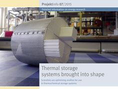 "Hydrophilic zeolites have almost ideal properties for use in thermal storage systems. They store the heat with hardly any losses, are environmentally friendly and cost-effective. The BINE-Projektinfo brochure ""Thermal storage systems brought into shape"" (07/2015) presents an optimised manufacturing process for a zeolite thermal storage system. It impresses with its greater energy density, power density and cycle resistance."