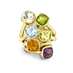 Beautiful stacking rings in a variety of bright new colours... Build up a collection and dazzle in the sunshine.