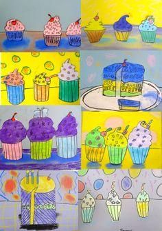 Wayne Thiebaud Art Lesson for Kids: 3rd, 4th, 5th Grades
