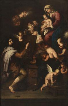 Ο Άγιος Λουκάς ζωγραφίζει τη Παναγία 1650-54