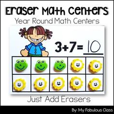 Do you hoard mini erasers for math centers? You are going to LOVE these Eraser Math Centers. You can use with ANY Eraser at ANY time. That's right. None of these centers are seasonal so you can use them ALL YEAR LONG! The activities are created to grow with your