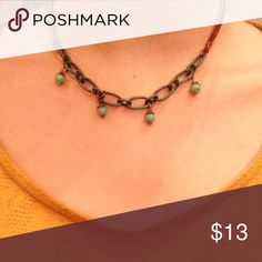 Handmade chocker necklace! Handmade leather chocker necklace with chain! Super cute!!! Jewelry Necklaces