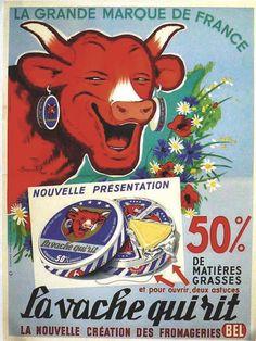 D'après Benjamin Rabier, La Vache qui rit, 120 x 160 cm, entre 500 euros et 1000 euros, L'Afficheur.