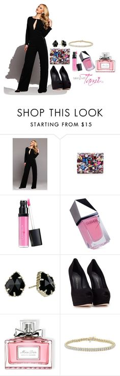"""""""Night Out"""" by talkingwithtami ❤ liked on Polyvore featuring Jimmy Choo, Laura Geller, GUiSHEM, Kendra Scott, Giuseppe Zanotti and Christian Dior"""