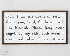 Prayer Signs, Prayer Board, Prayer Quotes, Bedtime Prayers For Kids, Prayers For Children, Childrens Prayer, Kids Prayer, Nursery Signs, Nursery Room