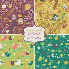 Hand painted backgrounds. Lovely design. Cute.