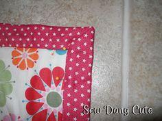 Sew Dang Cute Crafts: Baby Blanket/Wide Binding Tutorial