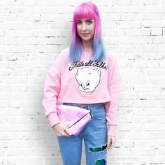 Get this look: http://lb.nu/look/7292060 More looks by Kate Hannah: http://lb.nu/kate_hannah Items in this look: Lazy Oaf 'Thats All Folks' Jumper, Maude Studio Diamond Deluxe Bag (Iridescent Candy Pink), The Ragged Priest Sequin Slasher Jeans #artistic #casual #perth #australia #fashionstudent #fashionblogger #fblogger #tumblr #pastel