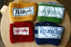 Harry Potter Mug Cozies :) I need to learn how to crochet!!!