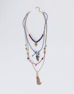 Collar largo strass pluma   NUEVO!   SHOP ONLINE SUITEBLANCO.COM