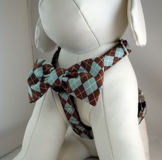 Dog Harness with Flower or Bow Tie Set - Traditional or Step-In - Pick Any Fabric in Shop. $29.00, via Etsy.    Bow harnesses can come with a bow tie! Adorable and cute for weddings as well.