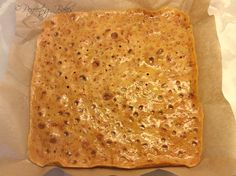 Honeycomb slab ready for breaking