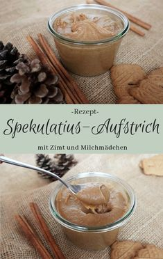 Speculoos spread - The inspiring life - Recipe: Spekulatius spread with milk girl and cinnamon Valentine Gifts For Boys, Valentines Day Dinner, Valentines Day Desserts, Eggnog Rezept, Valentine's Day Drinks, Beverages, Breakfast Photography, Eating Bananas, Advent Season