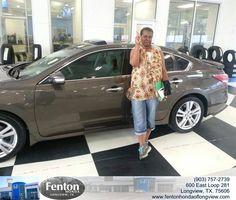 https://flic.kr/p/wE4AH4 | #HappyAnniversary to Sherian Alexander on your 2013 #Nissan #Altima from Alton Mcalister at Fenton Honda of Longview! | www.fentonhondaoflongview.com/?utm_source=Flickr&utm_...