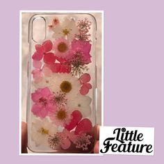 iPhone x iPhone 8 iPhone 7 handmade Pressed Flower phone cases Iphone 8, Iphone Cases, Personalized Phone Cases, Diy Phone Case, Plastic Case, Flower Designs, Etsy Store, Floral, Flowers
