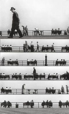 A photographic composition with musical rythm by Harold Feinstein. Via Tout ceci est magnifique. I love it!