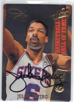 julius erving basketball cards | ... lot of 2 julius erving signed 1984 star basketball cards julius erving