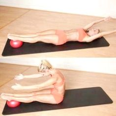 The Pilates Roll Up with Ball - Trainers Reveal: The Best Abs Exercise of All Time - Shape Magazine Pilates Training, Pilates Moves, Yoga Pilates, Pilates Workout, Beginner Pilates, Pilates Video, Pilates Fitness, Fitness Abs, Fitness Plan