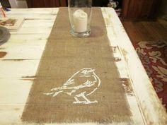 Etsy Daily: Birds on Burlap & Shabby Chic