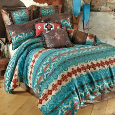 Cerrillos Hills Turquoise Bedding Collection