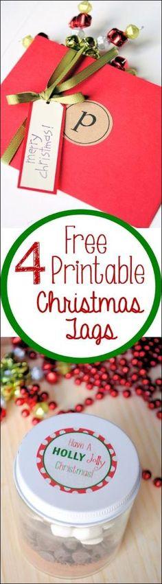 Free Printable Christmas Tags by Honeybumblebee