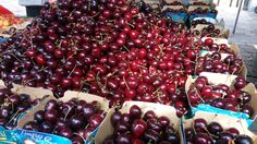 Cherries in Aligre market. Cherries, Marketing, Fruit, Food, Maraschino Cherries, Cherry Fruit, Essen, Meals, Yemek