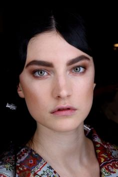 Make up by Charlotte Tilbury at Etro.  so crazy about big eyebrows right now!