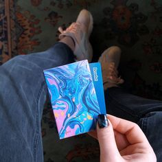 Slim card holder made by artists. DeviantCraft card holders are strong, slim and stylsh, great gift ideas for those who want to stand out from the crowd. Gift Ideas for him and her. Hand made small wallet with abstract artwork. #paperwallet #slimwallet #wallet #cardholder #giftideas #handmade