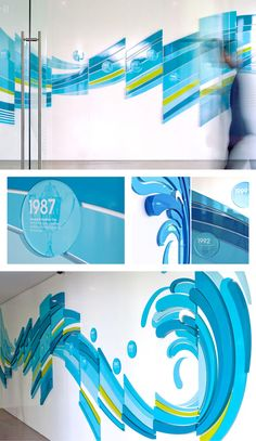 Bringing water to life for a drinks distributor's corporate offices + Displays the company's history