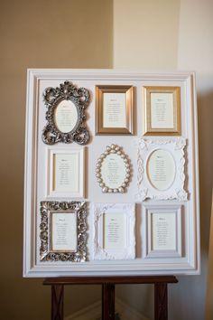 Frame on Frame wedding seating chart #weddingideas #cheapwedding #budgetwedding