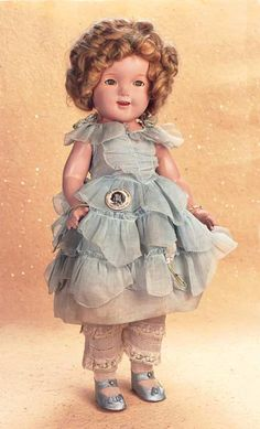 """Playful Art - The 20th Century Doll: 68 American Composition Shirley Temple in """"Little Colonel"""" Costume by Ideal"""