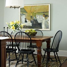Room For All ~ Black Windsor Chairs
