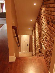 Open Basement Stairs, Like The Lighting