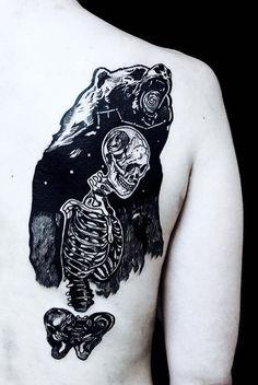 Amina Dargham bear Tattoo