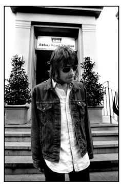 Jill Furmanovsky Oasis: Liam Gallagher outside Abbey Road studios