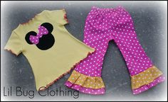 Custom Boutique Clothing Disney Minnie Mouse by LilBugsClothing, $42.00
