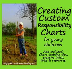 Creating Custom Responsibility Charts for Young Children: Chart making tips, creative ideas, links, resources. Several free chore charts to choose from. Responsibility Chart, Planning Budget, Charts For Kids, Raising Kids, Parenting Advice, My Children, No Response, Activities For Kids, Blog