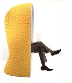 Privacy chair, Phone booth, Personal Pod ?  You decide. www.ofw.com/pinterest