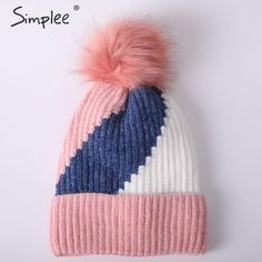 Joules BABY POM POM Tricot Double Pom Pom Hat in Truly Pink