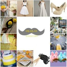 mustache theme wedding!
