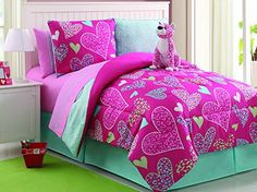 7 Pc Reversible Leapord/heart Comforter Set Bed in a Bag Twin Size Bedding By Plush C Collection Plush C Collection http://www.amazon.com/dp/B00KWHDT0E/ref=cm_sw_r_pi_dp_lqxjub1C0KAKZ