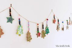 Here are some printable Christmas shapes which are perfect for creating cardboard ornaments. This is a fun and easy Christmas craft for kids.