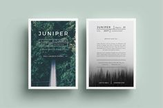 J U N I P E R  Flyer Template by 46&2 Collective on @creativemarket