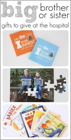 Big Brother or Sister Gifts to Give when the New Baby is Born - I really love the On the Day I was Born Photo Book idea