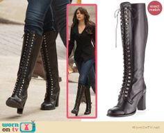 Elena's black blazer and lace up boots on The Vampire Diaries.  Outfit details: http://wornontv.net/13704/