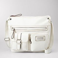 Relic white crossbody bag.